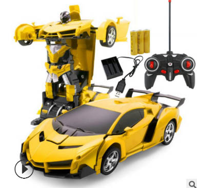 Best Gifts for Boys Girls Red RC Car for Kids Transform Car Robot Remote Control Super Car Toys with Gesture Sensing One-Button Deformation and 360/°Rotating Drifting Light Music 1:14 Scale