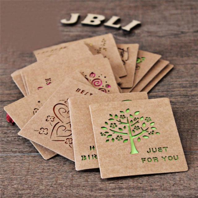 Vindima Escavar Envelope De Papel Kraft Com Cartão Do Convite Para O