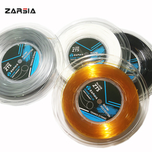 1 Reel ZARSIA Round smooth Tennis Racket String Tennis Racquet 4G polyester Tennis Strings 1.25MM 200M 4 colors