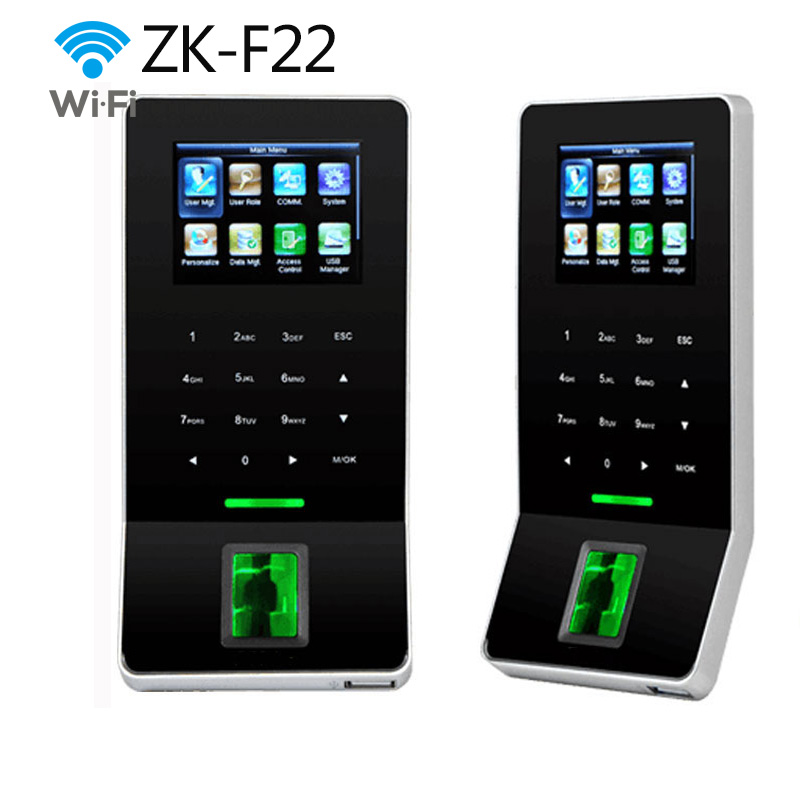 ZK F22 WIFI TCP/IP Fingerprint Time Clock & Access Control System With EM ID Card Time Attendance New Product USB-host