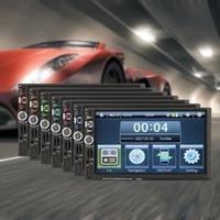 7026GM 7 pollice di Navigazione GPS FM Per Auto 2 Din Radio Multimedia Player Touch Screen Bluetooth MP4 MP5 Specchio Dispositivo di Collegamento
