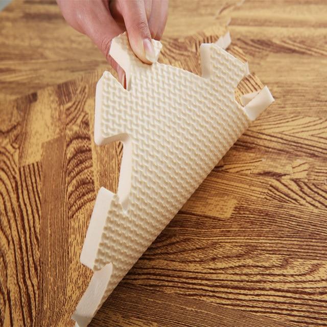 Online Shop 9pcs Soft Foam Mats Playmat Wood Grain Flooring Tiles Pe