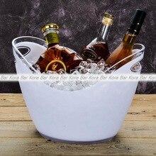 Новое поступление барные инструменты пластиковое прозрачное садовое ведро для льда супер большое ведро для льда пиво шампанское большое ведро для льда