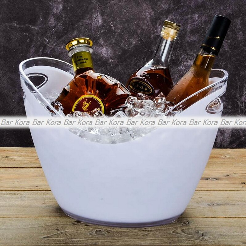 New arrival bar tools Plastic transparent garden ice bucket Super large ice bucket beer champagne big ice bucket