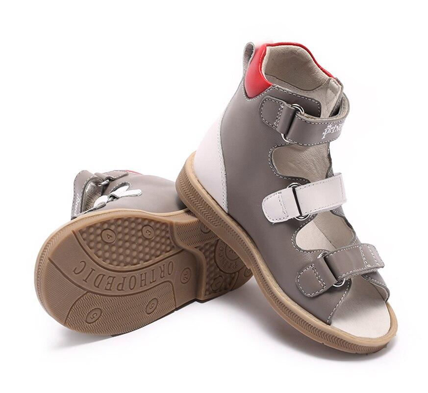 Princepard marque nouveau enfants chaussures d'été crochet boucle fermé orteil bambin filles sandales orthopédique sport en cuir véritable bébé filles - 2