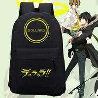 Dollars Orihara Izaya Cosplay Backpack Anime oxford Schoolbags Fashion Unisex Travel Laptop Bag Gift