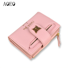 AOEO Small font b Wallet b font Female With Card Slots Coin Purse holder Cash Money