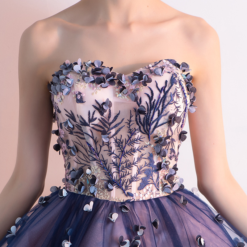 d73408eda0f9c It's YiiYa Sex Purple Floral Strapless Print Draped Flowers Knee Length  Cocktail Dress Tea Length Formal Dress Party Gowns LX031-in Cocktail  Dresses ...