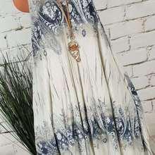 Large size Womens Dress 2019 summer new best selling fashion wild print round neck sleeveless Dresses