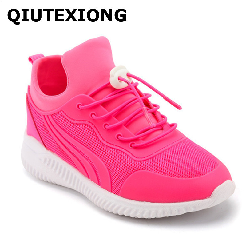 Big Kids Casual Shoes Pink Girls Shoes Breathable Outdoor Trekking Sneakers For Children Running Sport Shoes Boys Walking shoes forudesigns kids sport shoes boys girls for children walking cycling running nebula pringting lace up sneaker shoes outdoor