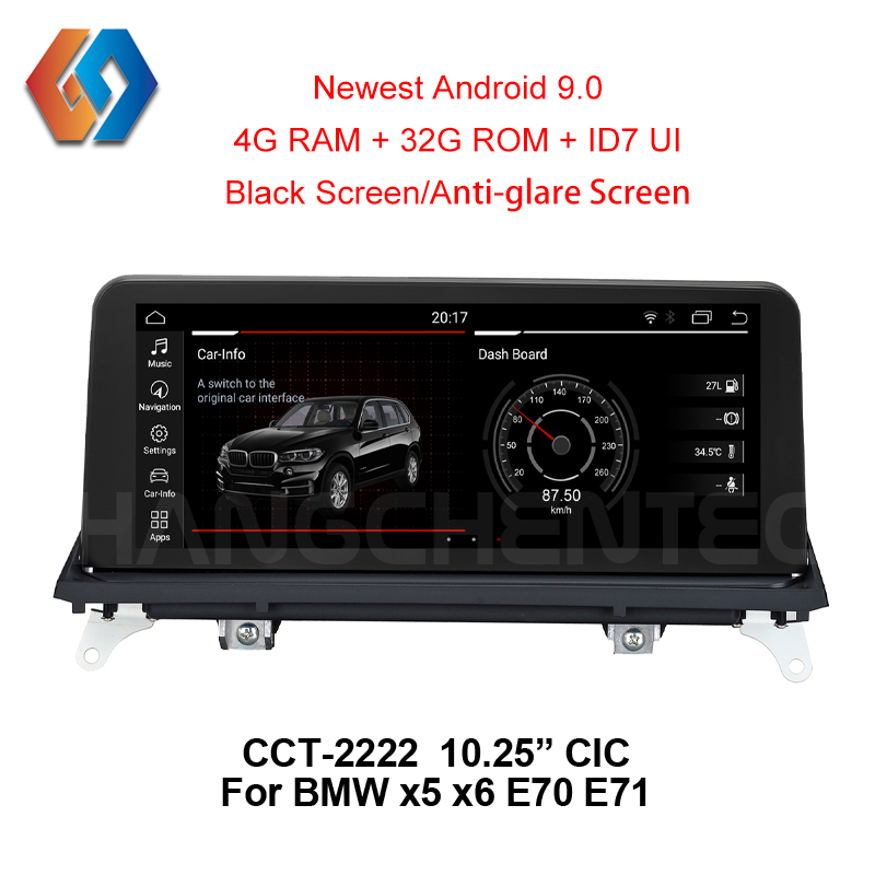 Car Multimedia GPS Navigation for BMW X5 E70 X6 E71 CIC System with Aux BT WiFi 3D Map New Android 9.0 NEW Black Touch Screen 22