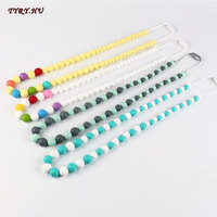 TYRY HU BPA Free Silicone Beads Necklace Baby Teething Biscuits Natural Pendant Silicone Teethers Baby Nursing