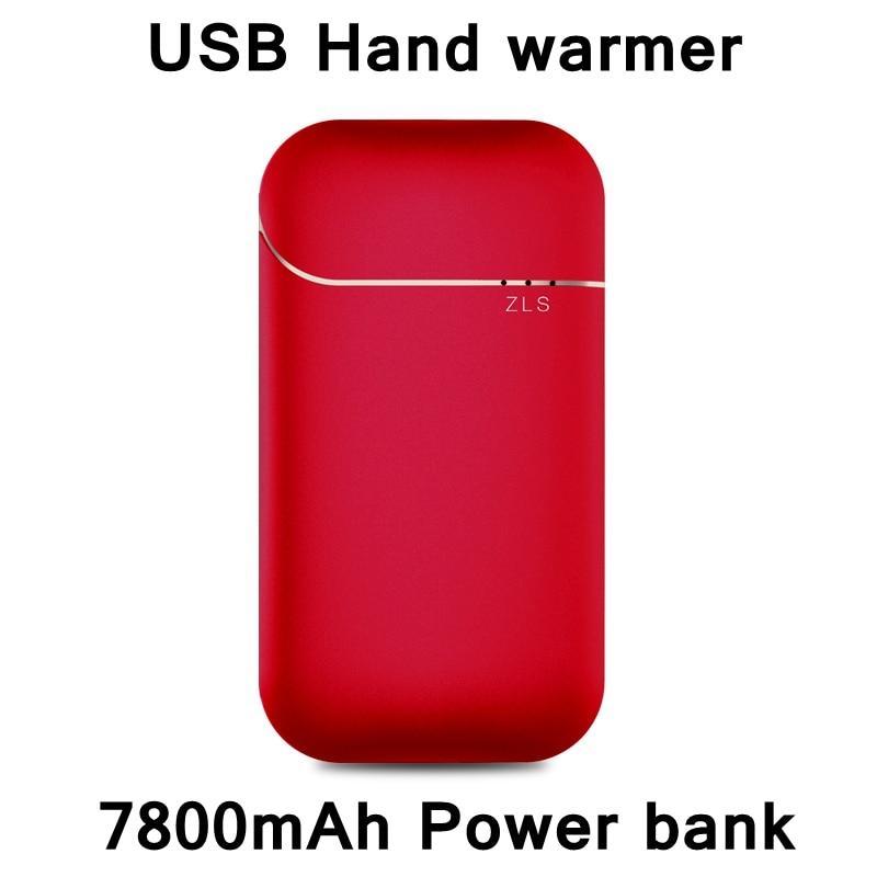 Offre spéciale 2018 nouveau Style USB chauffe-mains 7800 mAh batterie externe double fonction batterie de secours chargeur de téléphone fille ami cadeau 4 couleurs