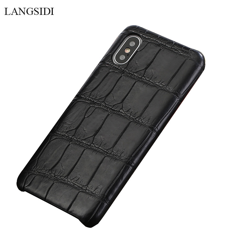 LANGSIDI Genuine Crocodil Leather case for Iphone x xs xr Handmade phone case for iphone 7 8 plus Natural leather back coversLANGSIDI Genuine Crocodil Leather case for Iphone x xs xr Handmade phone case for iphone 7 8 plus Natural leather back covers
