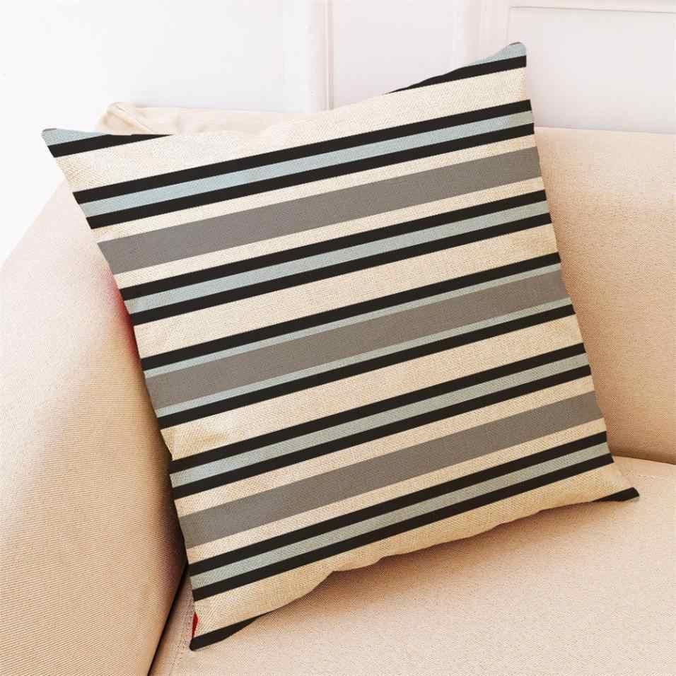 Funda de cojín de cama informal para el hogar, funda para campamento, funda de almohada Simple geométrica suave, funda de almohada textil, envío directo