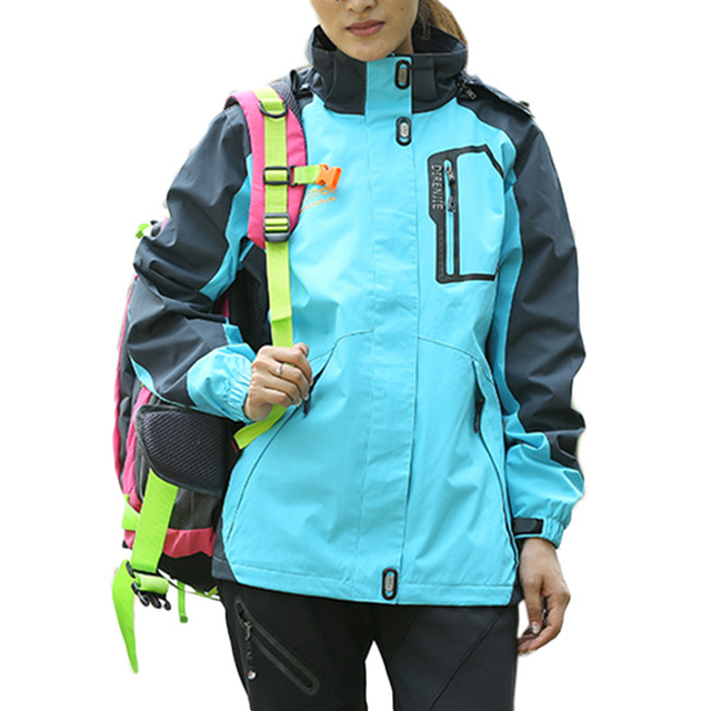 1bd8a8399 Women Anorak Waterproof Jacket Outerwear Coats Winter Lady Windproof Jackets  Traveling Lightweight Overcoat