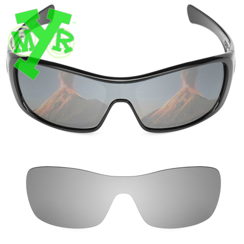 HKUCO Mens Replacement Lenses For Oakley Batwolf Sunglasses Silver/Transparent Polarized kNl4BaL1s