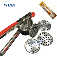 long potato chips ricer extruder 11.8 french Fries Presser Fries Chips Maker manual Potato Forming Machine Mashing tool