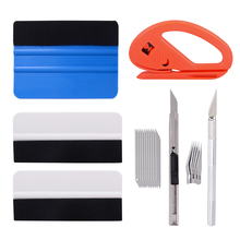 FOSHIO Window Tint Tool Kit Vinyl Car Wrap Set Carbon Foil Tinting Squeegee Stickers Film Cutter Knife Auto Accessories