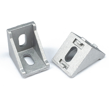 50pcs/lot DIY 3030 Serie Corner Brackets Angle Connector Fastener for 35*28 Decorative Industrial Aluminum Profile Accessories 10pcs corner fitting angle 20x20 20x40 2040 decorative brackets aluminum profile accessories l connector fasten connector