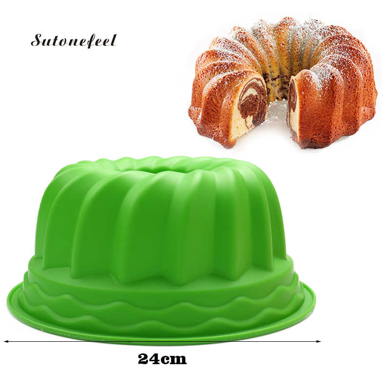 Large Size Spiral Shape Silicone Form for Baking Pan Pastry Baking Tray Chiffon Cake Mousse Mold Cake Decorating Tools