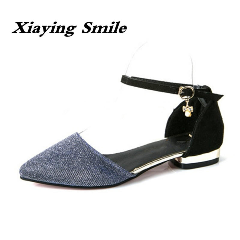 Xiaying Smile Summer Woman Sandals Fashion Women Pumps Square Cover Heel Buckle Strap Fashion Casual Female Sexy Women Shoes xiaying smile summer woman sandals fashion women pumps square cover heel buckle strap fashion casual concise student women shoes