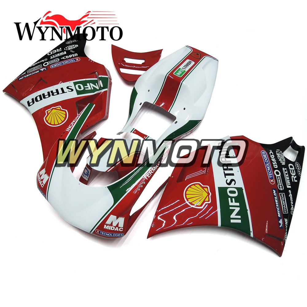 Fairings For Ducati 996 998 916 748 Monoposto Year 96 01 1996 2000 2001 2002 ABS Motorcycle Fairing Kit Red Green Body Frames