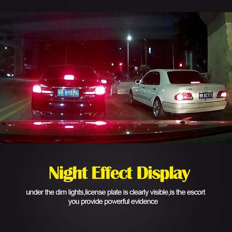 FHD 1080P car camera 4.3-inch Mirror Rearview screen dual lens Car DVR Night Vision rearview mirror auto dvrs Stop Recording 15