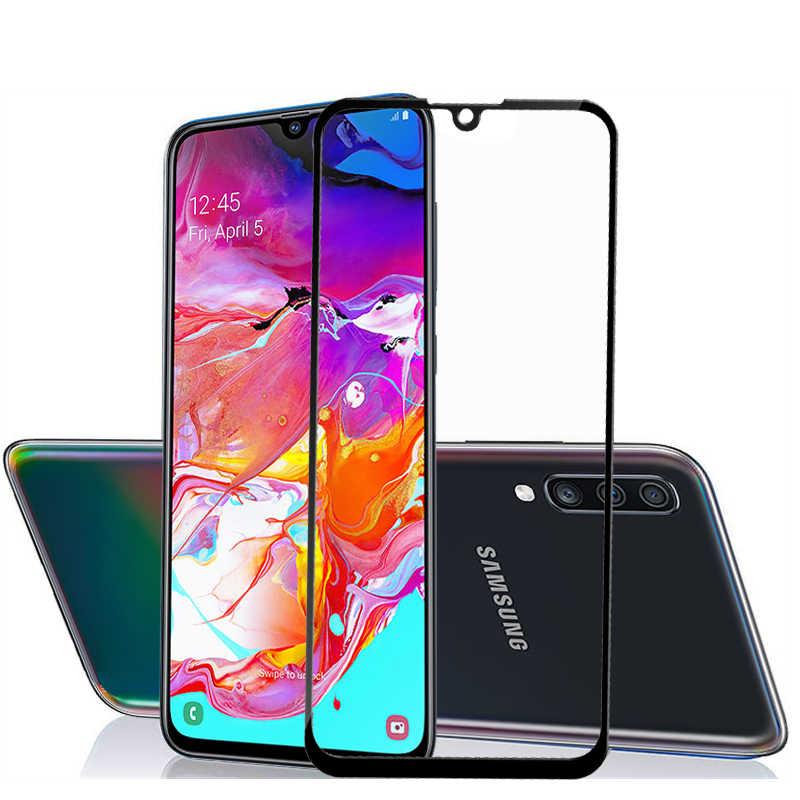 الزجاج المقسى على ل samsung galaxy a50 واقي للشاشة ل samsung a30 a70 A40 سامسون طبقة رقيقة واقية a 70 50 30 40 ورقة 9 H