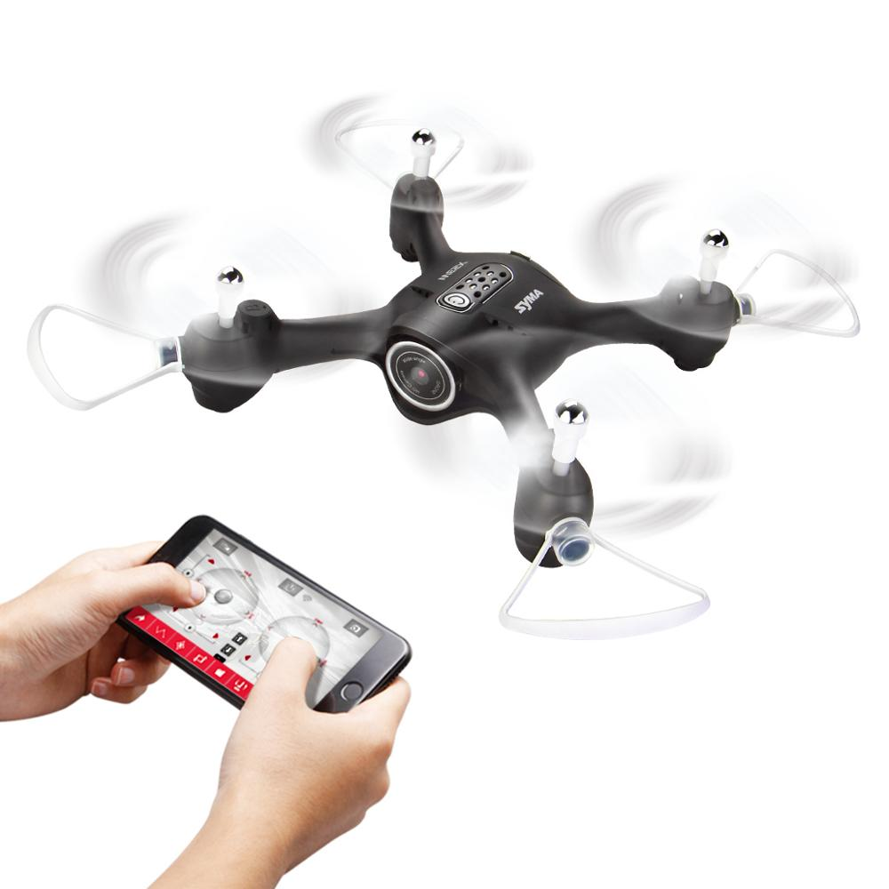 Original SYMA X23W Drone with Camera Wifi FPV RC Quadrocopter Altitude Hold Headless Mode APP Control Helicopter Aircraft