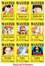 10 pièces/lot une pièce voulu affiches plus récent Anime affiche une pièce Luffy Ace Jinbe Nami Chopper Robin Zoro Sanji Usopp Franky jouets