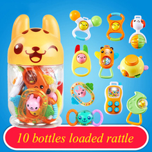 Children Kids Toys Gifts Teether Animal Rattle Toy Pram Dolls Baby Toys Educational Babies Mobility On The Bed Stroller 70C0326