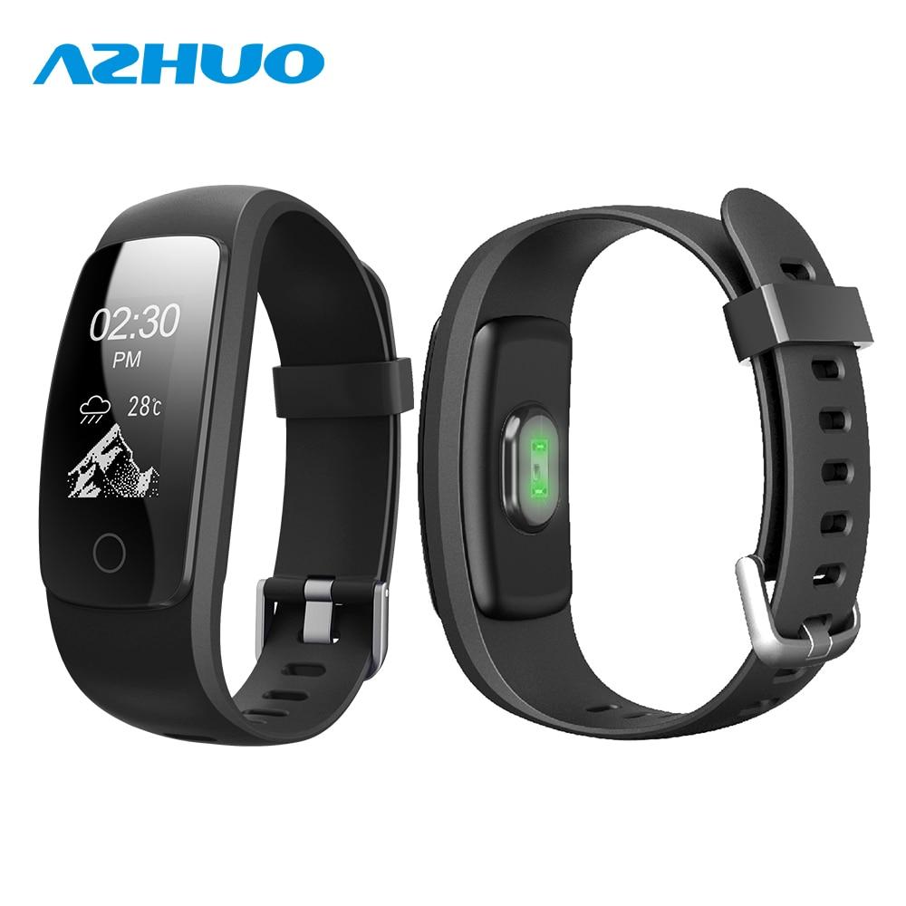 US $29 56 |AZHUO ID107 Plus HR Bluetooth Smart Bracelet Heart Rate Monitor  Wristband ID107Plus Multi sports VeryfitPro Fitness Tracker-in Smart