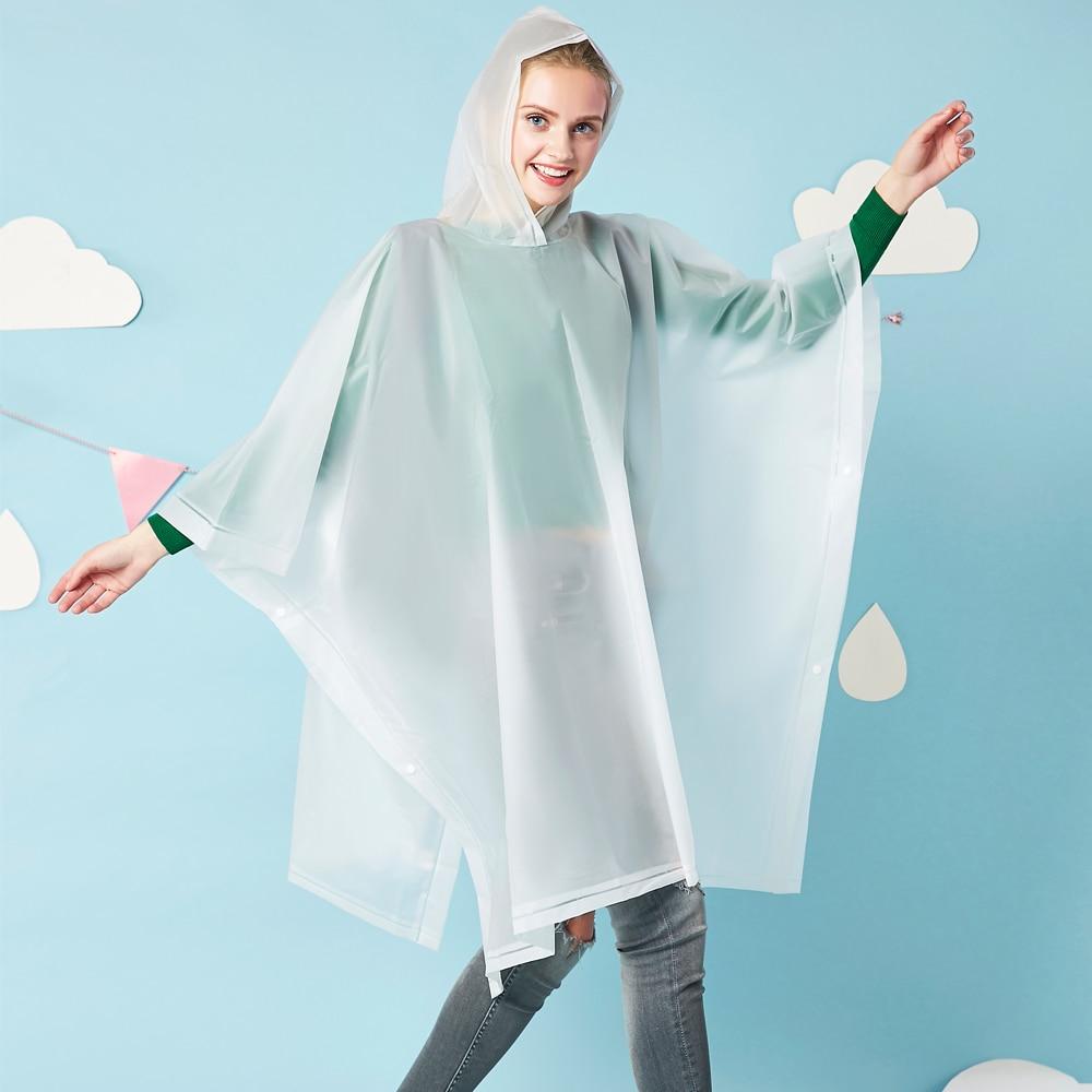 Yuding Raincoat Kvinder Vandtæt Rain Coat EVA Rain - Husholdningsvarer - Foto 1