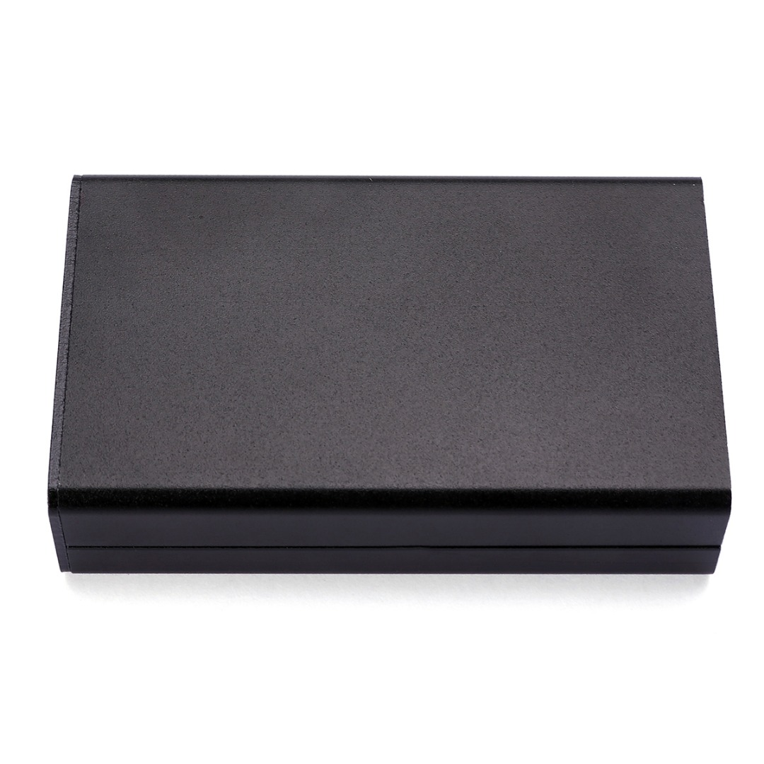 1pc Electronic Project Enclosure Case 1mm Thickness Black Aluminum PCB Instrument <font><b>Box</b></font> <font><b>80</b></font>*<font><b>50</b></font>*20mm image