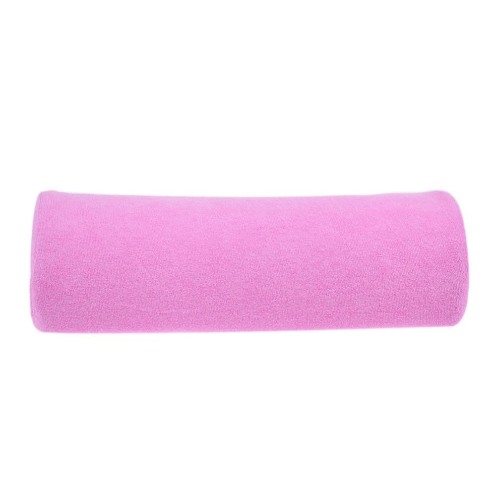 ขนาดเล็กนุ่มเล็บมือหมอนรองคอเล็บหมอนเบาะเล็บอุปกรณ์เสริมสวยสำหรับเล็บร้านเสริมสวยสีชมพู