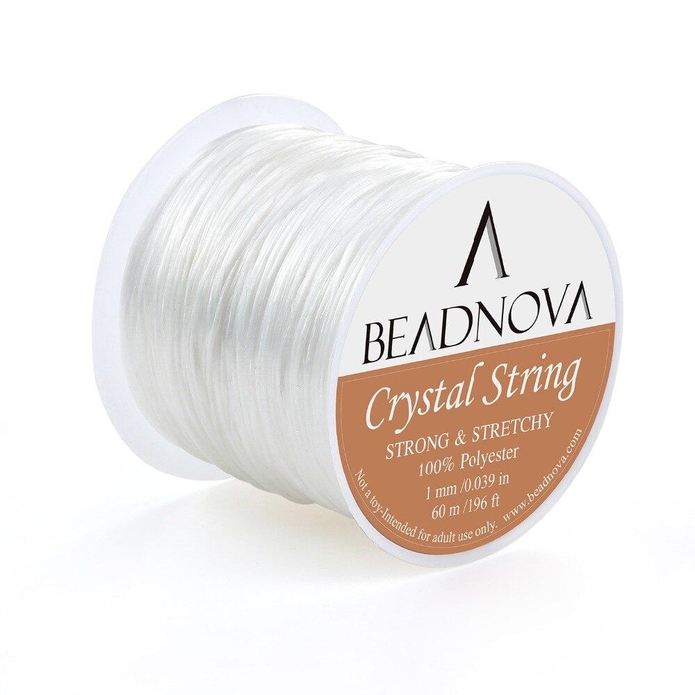 1 мм эластичный стрейч полиэстер кристалл шнур веревка для ювелирных изделий DIY браслет Цепочки и ожерелья Бисер нить проволоки 60 м /roll