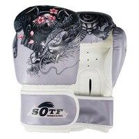 MMA Dragon Warrior Boxing Sports Leather Gloves Tiger Muay Thai boxing pads fight Women/Men sanda boxe thai glove box mma