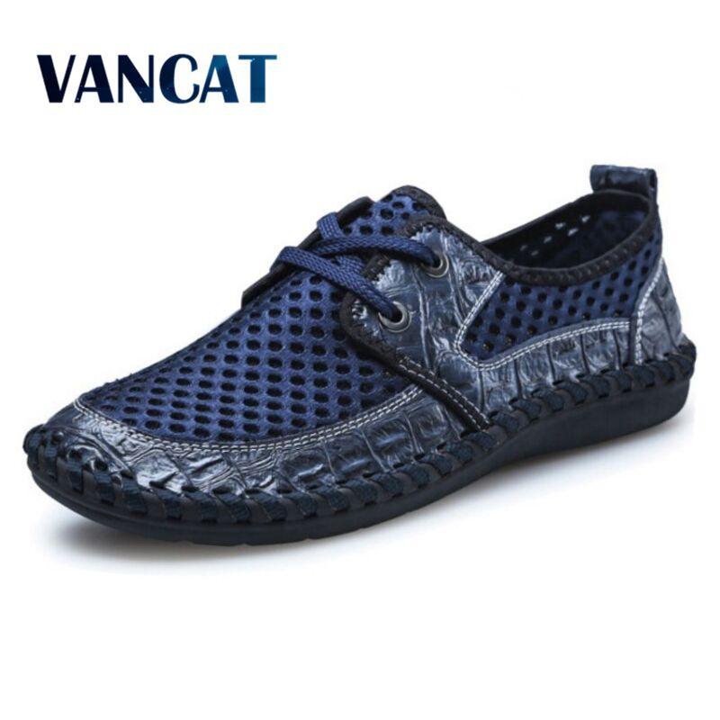 VANCAT Large Size Summer Men Casual Shoes Fashion Breathable Men Shoes Casual Male Shoes Brand Men Fashion Sneakers Cheap Shose