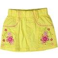 Девушки Летом Стиль Цветочный узор вышивки A-Line мини-юбки, Джинсы Джинсовая с стразами эластичный пояс LCD-2311