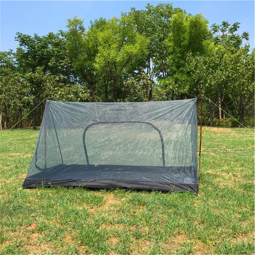 Tente de Camping en forme de A Portable sans poteau moustiquaire tente de filet de fil Total équipement de plein air quantitatif Ultra léger Camping Sup