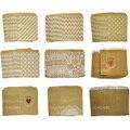 50 unids/lote bolsas de papel para fiestas de alta calidad bolsas de papel con rayas de lunares de Chevron bolsas de papel impresas para panadería bolsas