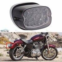 Motorcycle Smoke Taillight LED Turn Signal Tail Light Brake Park Light Stop Lamp For Harley Davidson