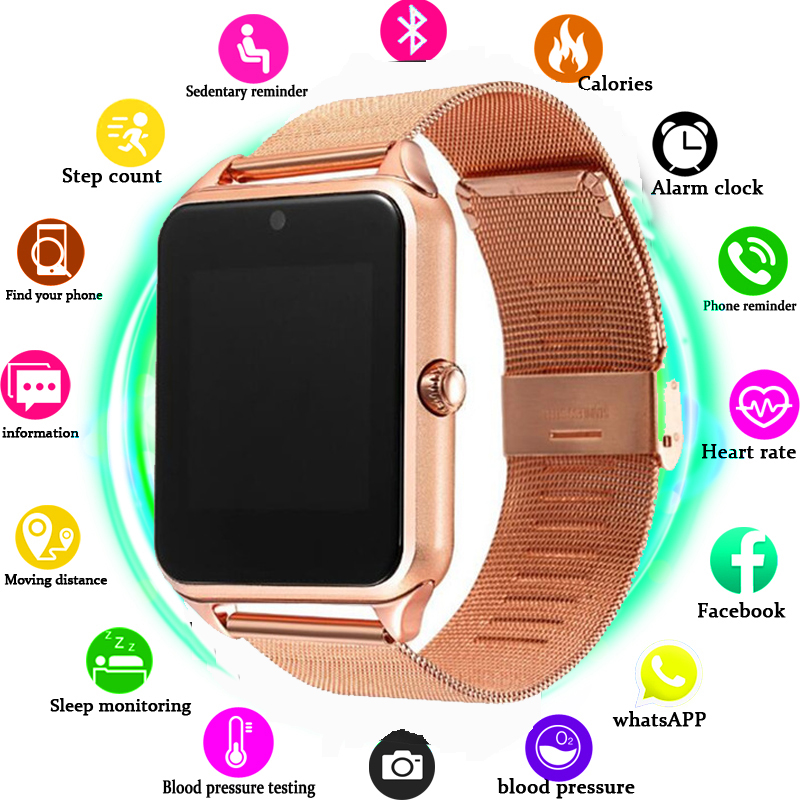Smart Watch GT08 Plus Metal Strap Bluetooth Wrist Smartwatch Support Sim TF Card Android&IOS Watch Multi-languages PK S8 Z60 P68