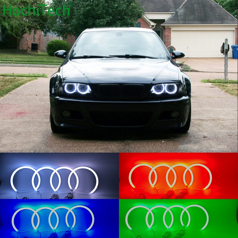 HochiTech SMD Cotton Multi Color RGB LED Angel Eyes Kit with remote control for BMW 1998