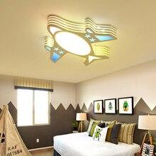 Уникальный светильник в форме самолета для детского сада, детской комнаты, светодиодный потолочный светильник в виде самолета, светильник в спальню