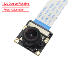 Ahududu Pi 220 Derece balık gözü Kamera Modülü Odak Ayarlanabilir Lens OV5647 Geniş Açı Kamera Ahududu Pi 3 Model B için /B +