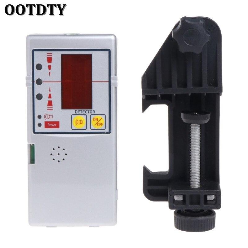 OOTDTY 635nm Compatible faisceau rouge nivelant la ligne transversale détecteur de récepteur Laser avec pince