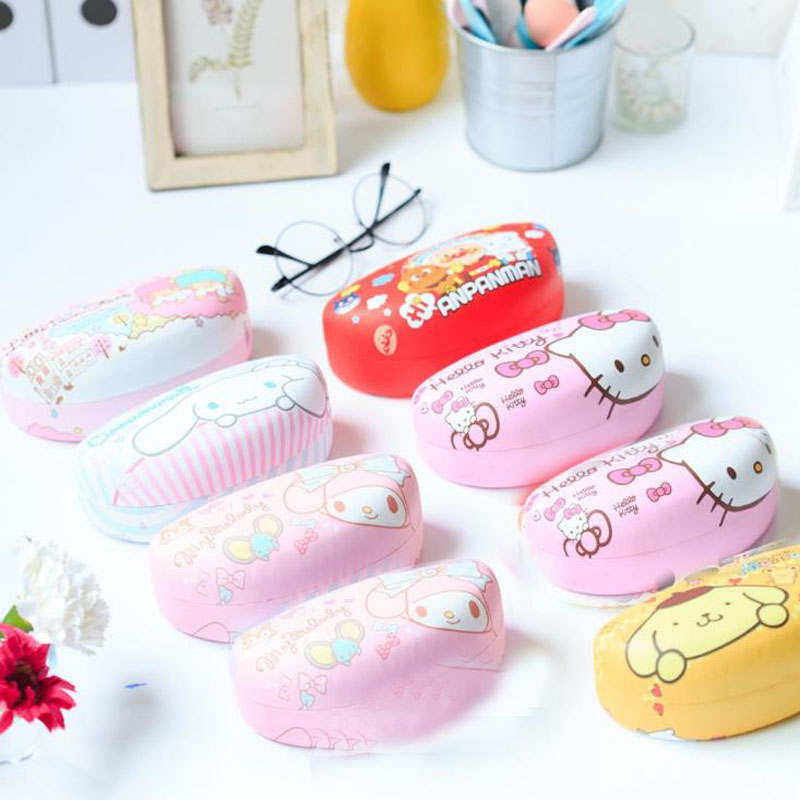 1 Pcs Lovely Kawaii Hello Kitty Cat Pencil Case Iron Tin Metal Glasses Box Spectacle Case Students Stationery Holder Gift1 Pcs Lovely Kawaii Hello Kitty Cat Pencil Case Iron Tin Metal Glasses Box Spectacle Case Students Stationery Holder Gift