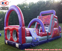 dueling rookie extreme kids party hire inflatable bouncer slide obstacle